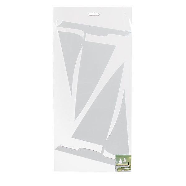 Наклейка интерьерная зеркальная 60*40см Кораблики 5100 3 шт 2 цвета купить оптом и в розницу