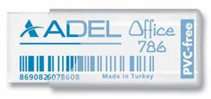 Ластик Adel Office 50х19.5х10мм прозрач. пластик. чехол купить оптом и в розницу