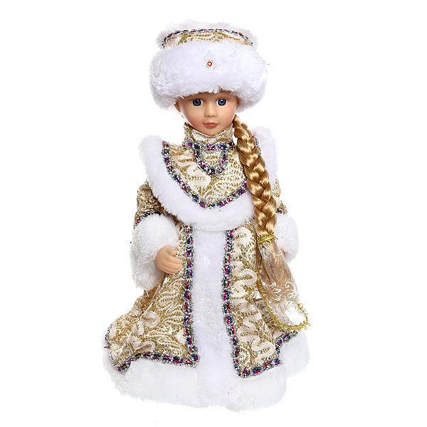 Снегурочка музыкальная 30см, длинная коса купить оптом и в розницу