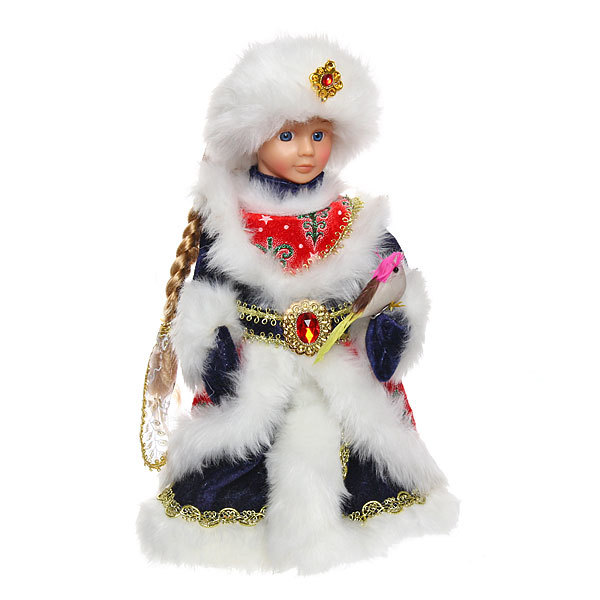 Снегурочка музыкальная 30см с птицей купить оптом и в розницу