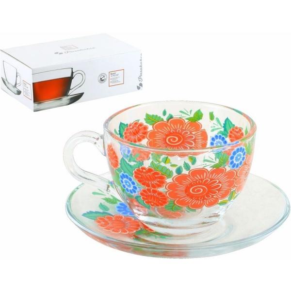 Набор чайный 12пр 215мл Бейзик КАДРИЛЬ круговая деколь, на блюдце лепковая (1/4) купить оптом и в розницу
