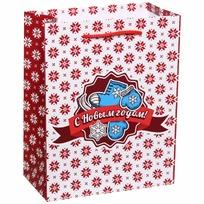 Пакет подарочный 14х18 см вертикальный ″С новым годом!″, Зимние прогулки купить оптом и в розницу