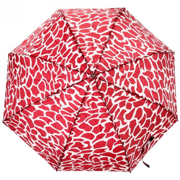 Зонт женский автомат ″Зебра″ с прорезиненной ручкой, микс 6 цветов, 8 спиц, d-110см, длина в слож. виде 28см купить оптом и в розницу