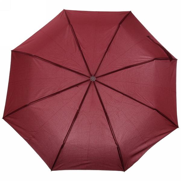 Зонт женский автомат ″Классика″ с прорезиненной ручкой, бордовый цвет, 8 спиц, d-110см, d-110см, длина в слож. виде 28см купить оптом и в розницу