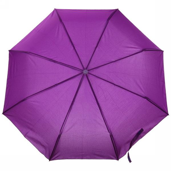 Зонт женский автомат ″Классика″ с прорезиненной ручкой, фиолетовый цвет, 8 спиц, d-110см, d-110см, длина в слож. виде 28см купить оптом и в розницу