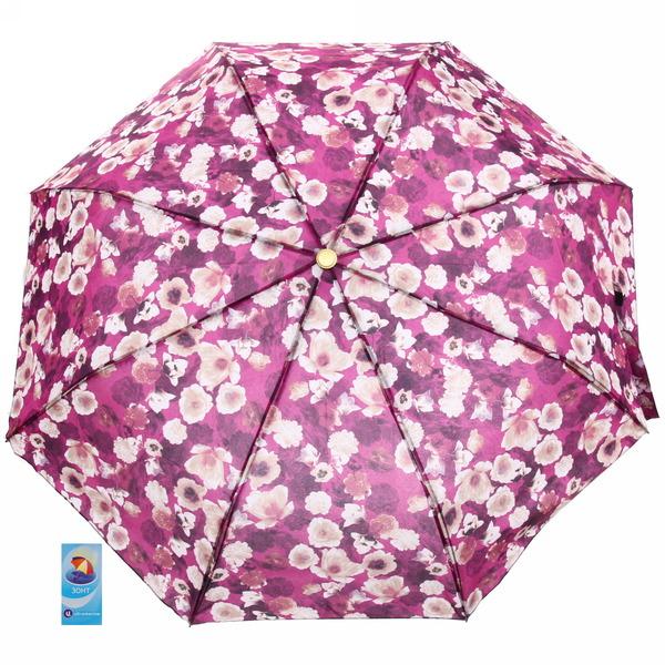 Зонт женский полуавтомат ″Цветочный принт″, 8 спиц, d-97см, длина в слож. виде 28см купить оптом и в розницу