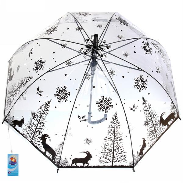 Зонт-трость женский купол ″Сафари″ микс 6 расцветок, 8 спиц, d-85см, длина в слож. виде 55см купить оптом и в розницу