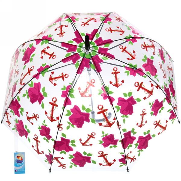 Зонт-трость женский купол ″Ассорти цветов″ микс 6 расцветок, 8 спиц, d-85см, длина в слож. виде 55см купить оптом и в розницу