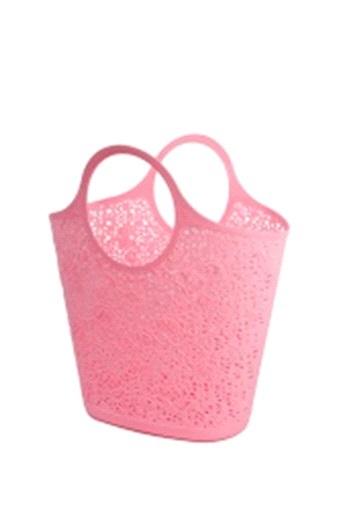Сумка-корзинка кружевная  розовый *12 купить оптом и в розницу