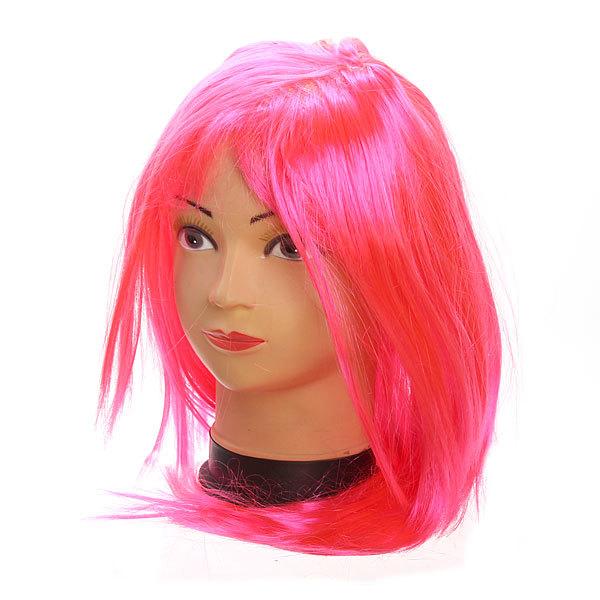 Парик карнавальный ″Стайл розовый″ 999-1 купить оптом и в розницу