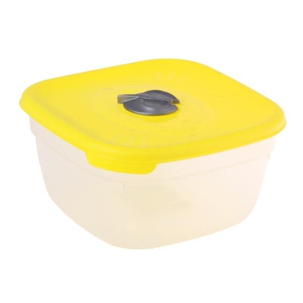 Емкость квадратная для СВЧ с паровыпускным клапаном 1 л лимон*60 купить оптом и в розницу