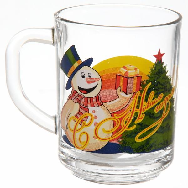 Кружка 250мл ″Снеговик с подарками″ D55029/12 купить оптом и в розницу