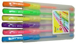 """Набор ручек гел.First """"Neon"""" 6шт (гол.,фиол.,жел.,зел.,оранж.,роз.) купить оптом и в розницу"""