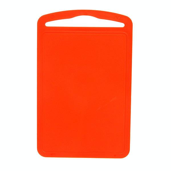 Доска разделочная пластиковая большая оранжевая 32*20см купить оптом и в розницу