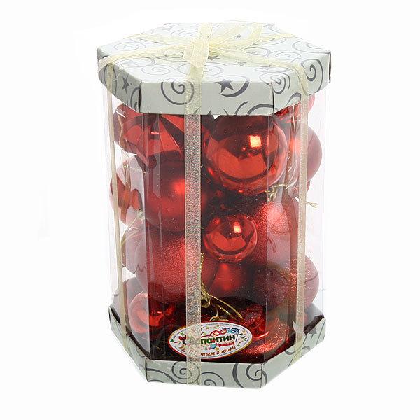 Новогодние шары (30шт) красный S-12234 купить оптом и в розницу