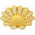 Фруктовница ″Азиза″ золото 4 купить оптом и в розницу