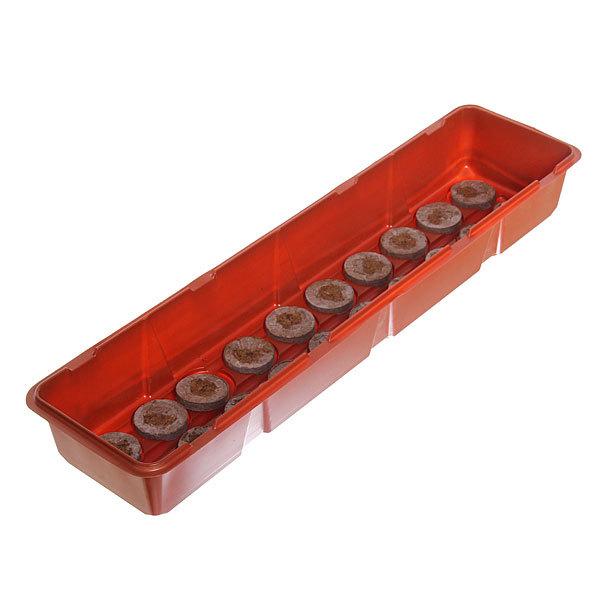 Мини-теплица длинная 20 ячеек с торфяными таблетками 44 мм 500*120*80 мм Jiffy купить оптом и в розницу