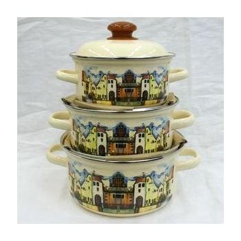 Набор посуды эмалированной 3 предмета ″Старый город″ (1.5л, 2л, 3л ) (1/1) купить оптом и в розницу