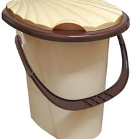 Ведро туалетное с крышкой 1/10 купить оптом и в розницу