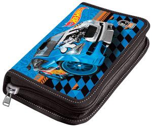 Пенал 1отдел.пуст.средний Limpopo Mattel HW синий купить оптом и в розницу