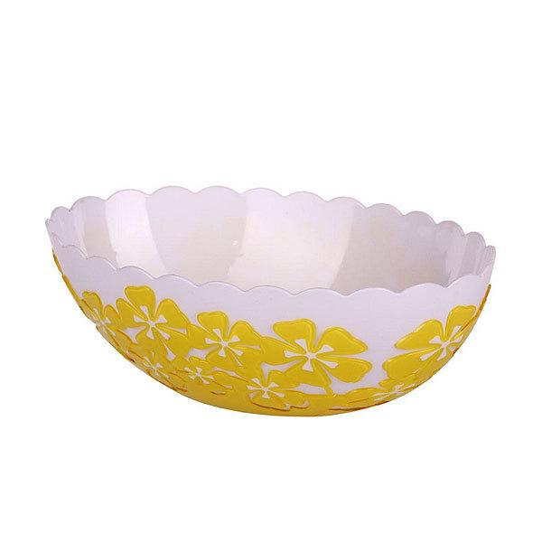 Салатник пластиковый ″Камелия″ 1,3л. овальный (жёлтый) купить оптом и в розницу