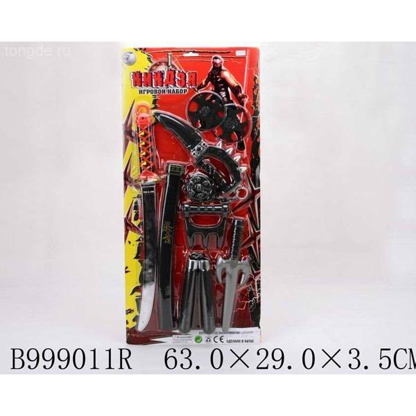 Набор оружия 1194RZ Ниндзя на листе купить оптом и в розницу