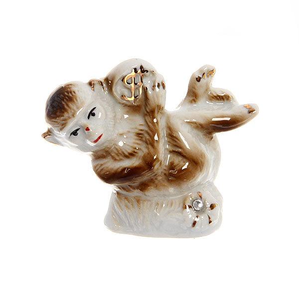 Cувенир керамика ″Обезьянка c монетой″ 6,5*7см F125A-1 купить оптом и в розницу