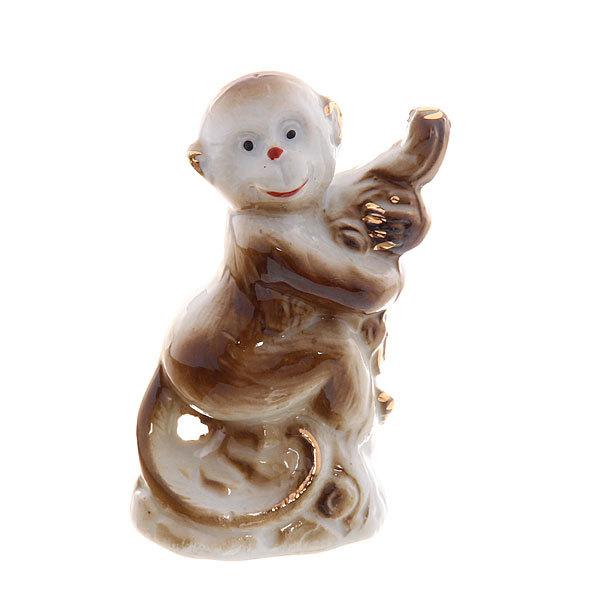Cувенир керамика ″Обезьянка на дереве″ 8*4,5см F129A-1 купить оптом и в розницу
