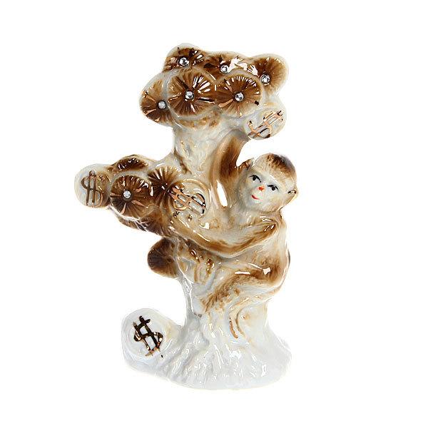 Фигурка керамическая ″Обезьянка на Денежном дереве″, 12,5*8,5см купить оптом и в розницу