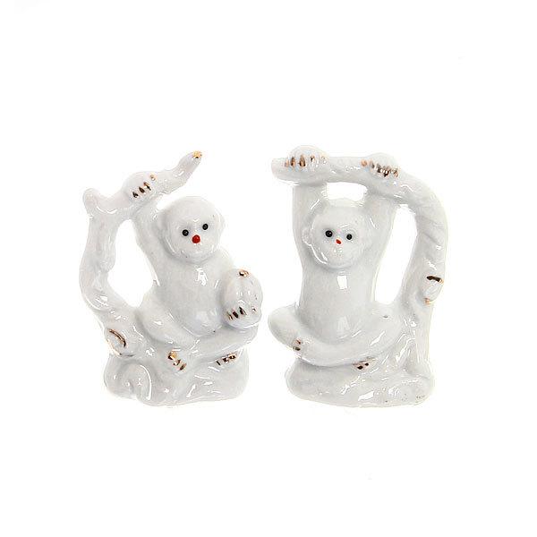 Cувенир керамика ″Обезьянка Снежок″ в наборе 2 шт 6*4см F116 купить оптом и в розницу