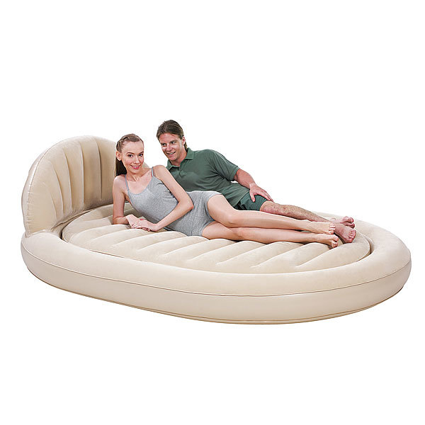Кровать надувная овальная с изголовьем Royal Round Air Bed,215*152*60 см,Bestway (67397N) купить оптом и в розницу