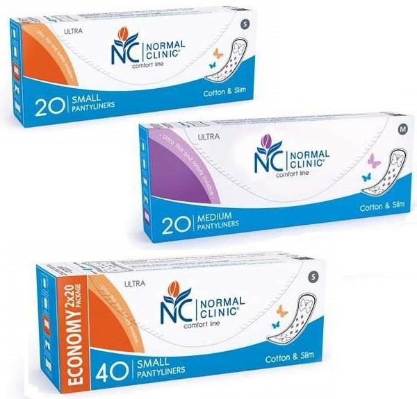 Прокладки ультратонкие ежедневные NORMAL cliniс - cotton & slim- 150 мм, в картон. коробке, без и/у 20шт купить оптом и в розницу