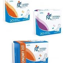 Ультратонкие прокладки ежедневные NORMAL cliniс - cotton & slim- 150 мм, в ПЭ упаковке, с и/у 20 шт купить оптом и в розницу