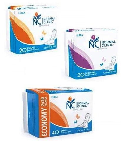 Прокладки ультратонкие ежедневные NORMAL cliniс - cotton & slim- 150 мм, в ПЭ упаковке, с и/у 20 шт купить оптом и в розницу