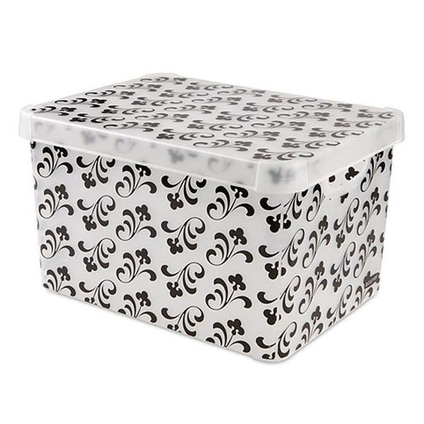 Коробка декоративная STOCKHOLM XL голубой/*5 шт Curver 395*250*295 купить оптом и в розницу
