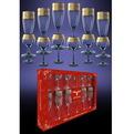 Набор 12 предметов Версаче ″Эдем″: 6 бокалов 170мл, 6 рюмок 65мл (1/4) GE08-1687/1801 купить оптом и в розницу