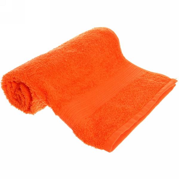 Махровое полотенце 50*90см оранжевое ЭК90 Д01 купить оптом и в розницу