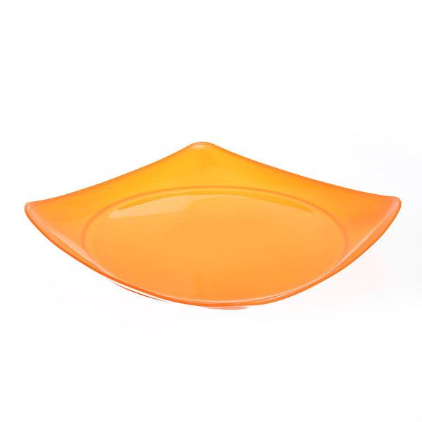 Тарелка пластиковая квадратная 23,5*23,5см купить оптом и в розницу