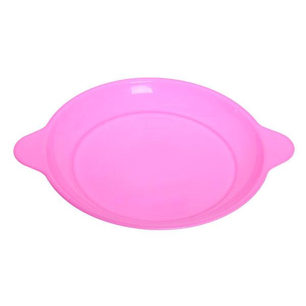 Тарелка пластиковая круглая с ручками 22,5см 957 купить оптом и в розницу