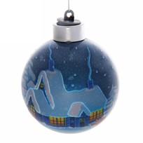 Новогодний шар с подсветкой ″Новогодний домик″ 8 см купить оптом и в розницу