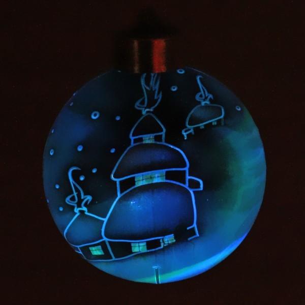 Новогодний шар с подсветкой ″Новогодний пейзаж″ 8 см купить оптом и в розницу