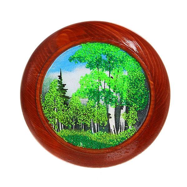 Панно из натурального камня 15см круг №1 купить оптом и в розницу