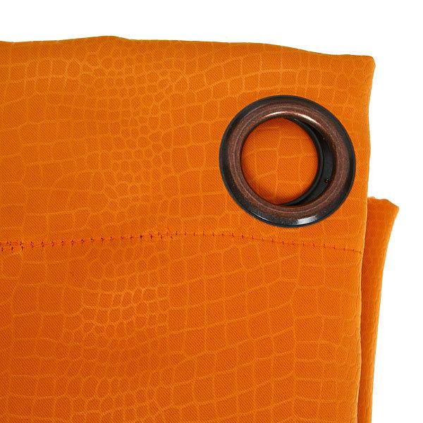 Штора на люверсах 140*260см ″Крокодил″ Оранжевая 1шт купить оптом и в розницу