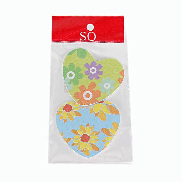 Пилка для ногтей наждачная в пакете фигурная ″Эстетика″, в наборе 2шт, рисунок цветочки,6*5,5см купить оптом и в розницу