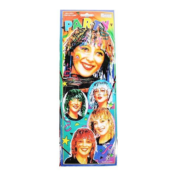Парик карнавальный из мишуры (6 цветов) купить оптом и в розницу