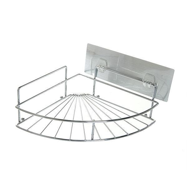 Полка для ванны металлическая угловая с липким слоем SQ-5006 купить оптом и в розницу