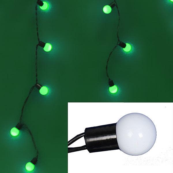 Бахрома светодиодная 3 х 0,3/0,4/0,5м, 96 ламп LED, Зеленый, 8 реж купить оптом и в розницу