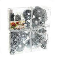 Ёлочная игрушка набор (51шт) серебро D06-289/S купить оптом и в розницу