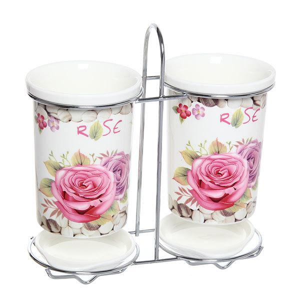 Подставка для кухонных приборов двойная ″Цветок″ купить оптом и в розницу