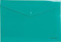Папка-конверт с кноп. А4 180мк Erich Krause Envelope непрозр., зеленая купить оптом и в розницу